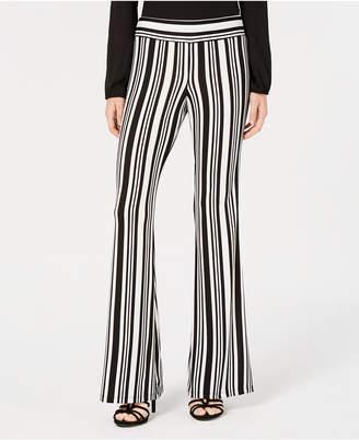 BCX Juniors' Striped Flare-Leg Pants