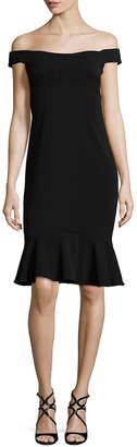 JS Collections Asymmetric Seam Flounce Dress