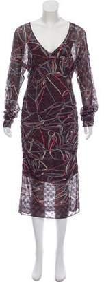 Missoni Patterned Silk Midi Dress