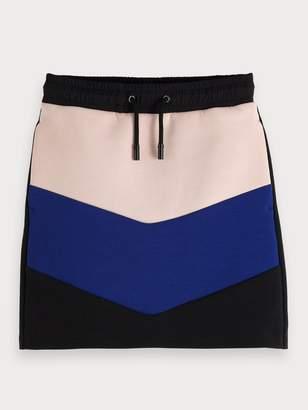 Scotch & Soda Color Block Sweat Skirt