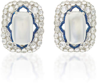 Arunashi One-Of-A-Kind Blue Moonstone Earrings