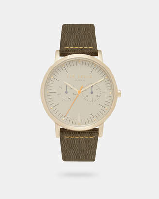 Ted Baker BRITB Woven leather strap watch