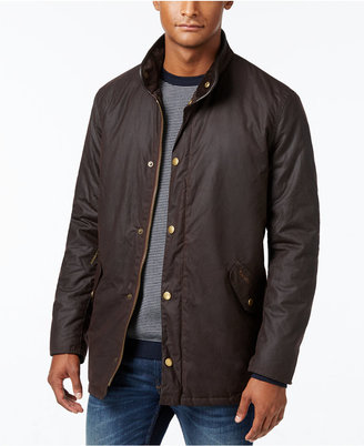 Barbour Men's Prestbury Waxed-Cotton Jacket $379 thestylecure.com