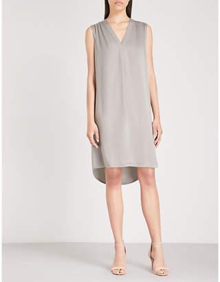 The White Company V-neck satin dress