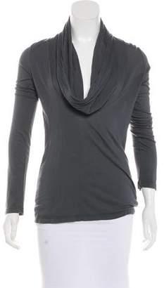Splendid Cowl Neck Long Sleeve Shirt