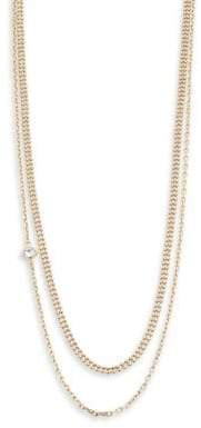 Karl Lagerfeld Layered Mixed Chain Charm Necklace
