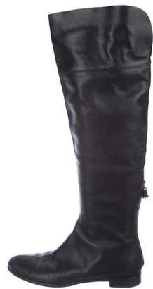 Sergio Rossi Leather Over-The-Knee Boots