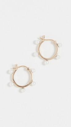 Mateo 14k Freshwater Cultured Pearl Dot Hoop Earrings