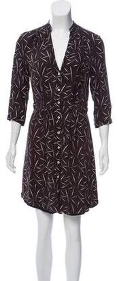 Band Of Outsiders Silk Button-Up Dress