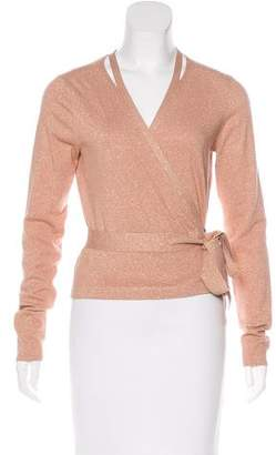 Diane von Furstenberg Knit Wrap Top