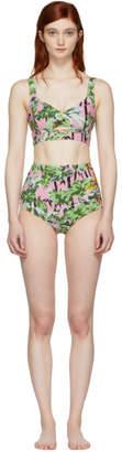 Kenzo Pink Tiger Print Bikini