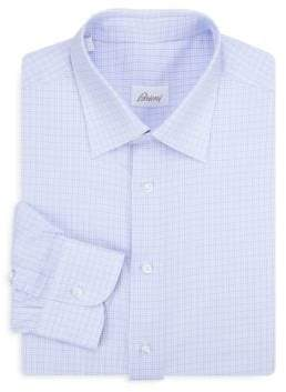 Brioni Classic-Fit Multi Check Cotton Dress Shirt
