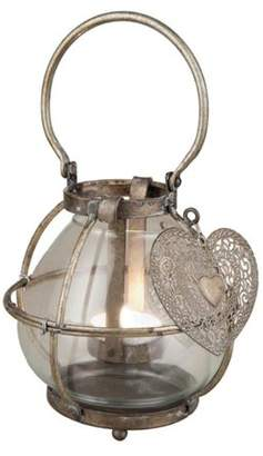 Foreside Home and Garden With Love Lantern Candle Holder