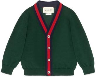 Baby cotton cardigan with Web $255 thestylecure.com