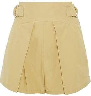 Roberto Cavalli Belted Pleated Cotton Shorts