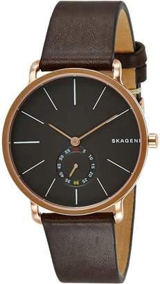 Skagen Men's SKW6213 Hagen Dark Leather Watch