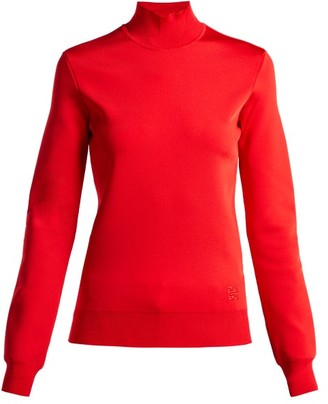 Givenchy High Neck Knit Top - Womens - Red