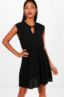 boohoo Kerry Keyhole Skater Dress