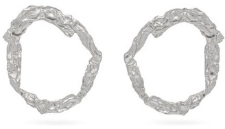 Chloé Anouck Crinkle Effect Hoop Earrings - Womens - Silver