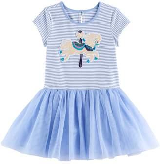 Girls 4-6x Marmellata Classics Striped Knit Carousel Dress
