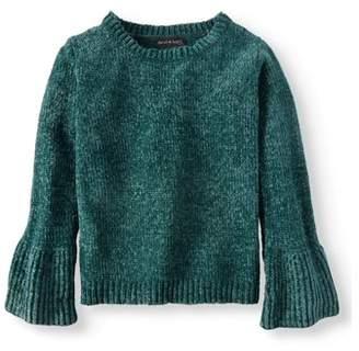 Derek Heart Chenille Bell Sleeve Pullover Sweater (Big Girls)