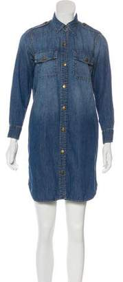 Current/Elliott Denim Long Sleeve Dress