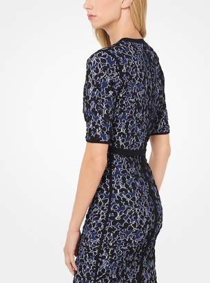 Michael Kors Floral Stretch-Viscose Jacquard Shrug