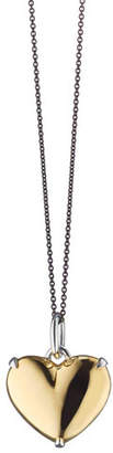 Monica Rich Kosann Two-Tone Heart of Gold Charm Necklace