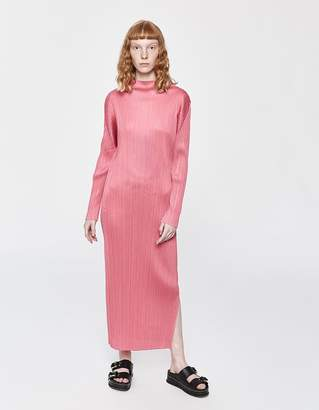 Pleats Please Issey Miyake Monthly Colors Long Sleeve Dress