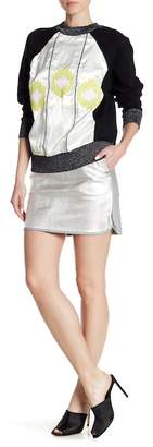 Cynthia Rowley Metallic Leather Mini Skirt