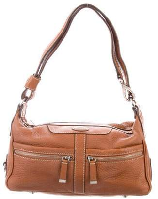 Tod's Grained Leather Shoulder Bag Tan Grained Leather Shoulder Bag