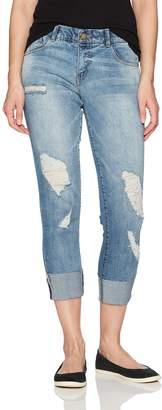 Jolt Women's Raw Cuff, Techno Fit Skinny Jean