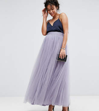 Little Mistress Maternity Maxi Tulle Prom Skirt