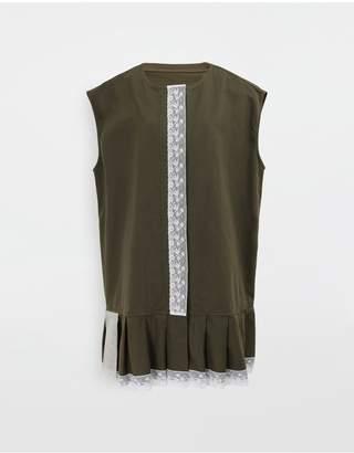 MM6 MAISON MARGIELA Oversized Lace-Trimmed Dress