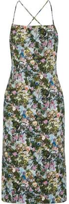 Cushnie et Ochs - Donna Open-back Floral-print Stretch-cady Dress - Green $1,495 thestylecure.com