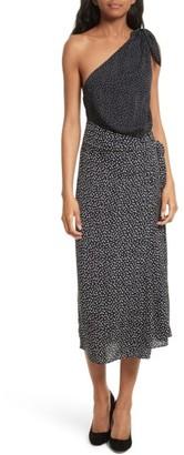 Women's Diane Von Furstenberg Knot Detail One-Shoulder Dress