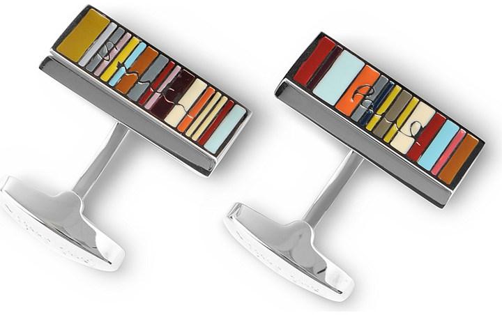Paul SmithPaul Smith Accessories Stripe name cufflinks