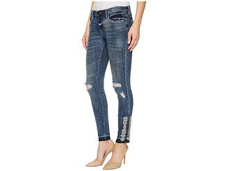 Blank NYC Skinny Classique with Sew On Jewels At Hem in Disco Nap Women's Jeans