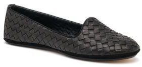 Bottega Veneta Woven Leather Smoking Slippers $660 thestylecure.com