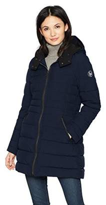 Nautica Women's 3/4 Hooded Stretch Packable