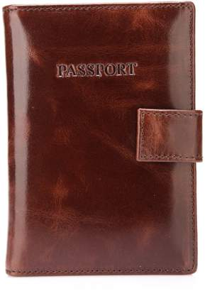 Vicenzo Leather London Distressed Leather Passport Case