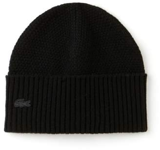 Lacoste Men's Cashmere And Wool Cuffed Beanie