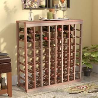 Red Barrel Studio Karnes Redwood Table Top 64 Bottle Floor Wine Rack