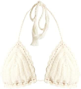 ANNA KOSTUROVA Crochet triangle bikini top $72 thestylecure.com