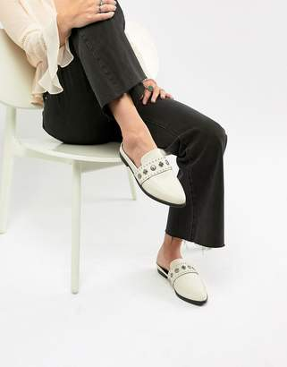 Sol Sana Leather Stud Detail Mule in White