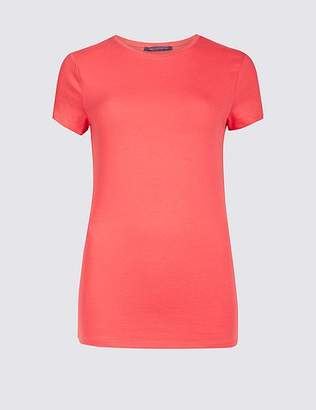 Marks and Spencer Cotton Stretch Crew Neck T-Shirt