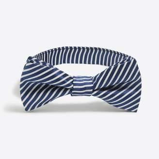 J.Crew Factory Boys' seersucker silk bow tie