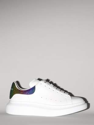 Alexander McQueen 40MM LEATHER & GLITTERED SNEAKERS