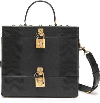 Dolce & Gabbana (ドルチェ & ガッバーナ) - ドルチェ & ガッバーナ 装飾付き テクスチャードレザー コスメティックケース