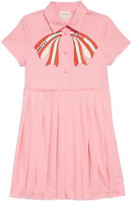 Gucci Applique Pleated Dress